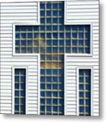 Religion Window Cross Metal Print
