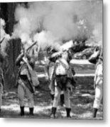 Reliving History-bw Metal Print