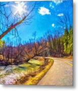 Reluctant Ontario Spring 3 - Paint Metal Print