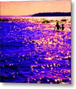 Reluctant Swimmer 2 Metal Print