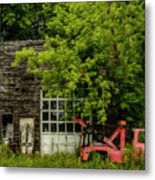 Remains Of An Old Tow Truck And Garage Metal Print