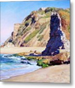 Remains Of Ancient Constructions On Seacoast  Metal Print