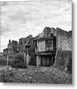 remains of st pauls school derelict building site future campus for university college Birmingham UK Metal Print