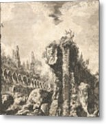 Remains Of The Temple Of Castor And Pollux Metal Print