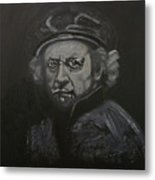 Rembrandt Black And White Metal Print