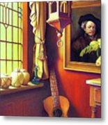 Rembrandt's Hurdy-gurdy Metal Print