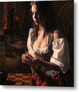 Rembrants Daughter Metal Print by Tony Slez
