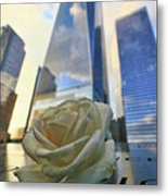 Remembering With A Rose Metal Print