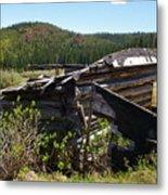 Remnants Of Caribou Metal Print