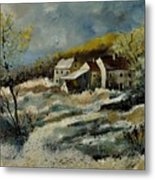 Remote Houses In The Ardennes  Metal Print