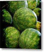 Renaissance Green Watermelon Metal Print