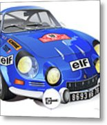 Alpine Renault A110 Metal Print