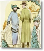 Rendezvous, Outfit And Ulster Overcoat  Metal Print