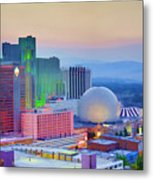 Reno At Sunset Metal Print