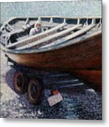 Repairing The Whaler In Boothbay Metal Print