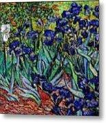 replica of Van Gogh irises Metal Print
