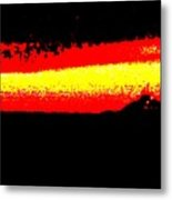 Representational Abstract Sunset Metal Print by Eric  Schiabor