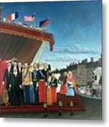 Representatives Of The Forces Greeting The Republic As A Sign Of Peace Metal Print