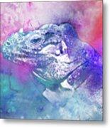 Reptile Profile Metal Print