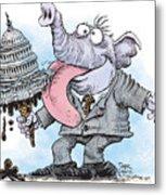 Republicans Lick Congress Metal Print
