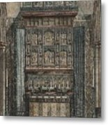 Reredos Chapel Of Aukland Castle 1884 Metal Print by Dodgson Fowler