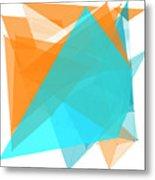 Research Polygon Pattern Metal Print