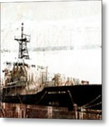 Research Vessel Atlantis In Astoria Oregon Metal Print