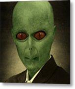 Resident Professor Of Interplanetary Research Area 51 Metal Print