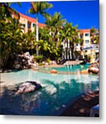 Resort Pool Metal Print