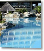 Resort With Swimming Pool Metal Print