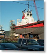 Response In Anacortes Drydock Metal Print