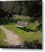 Rest Along The Path Metal Print