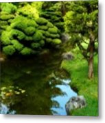 Rest By The Pond Metal Print