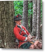 Rest From The March Royal Highlander Metal Print