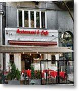 Restaurant And Cafe Metal Print