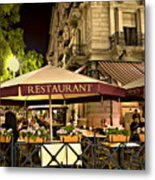 Restaurant In Budapest Metal Print by Madeline Ellis