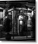 Restaurant Jeanne D'arc Bw Metal Print