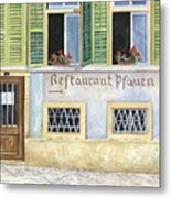 Restaurant Pfauen Metal Print by Scott Nelson
