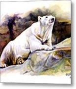 Resting Polar Bear Metal Print