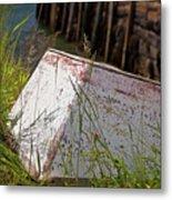 Resting Rowboat Metal Print