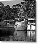 Resting Shrimp Boats Metal Print