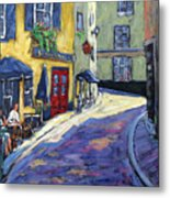 Resto Le Cochon Dingue  In Old Quebec Metal Print