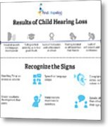 Resutls Of Child Hearing Loss Metal Print