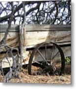 Retired Farm Wagon Metal Print