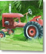 Retired Farmall Metal Print