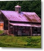 Retired Vermont Farm Metal Print