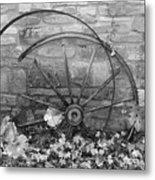 Retired Wheel Metal Print