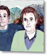 Retrato Mis Hijos Andres - Alejandro Metal Print