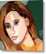 Retrato Patricia Metal Print