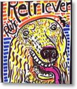 Retriever Metal Print by Robert Wolverton Jr